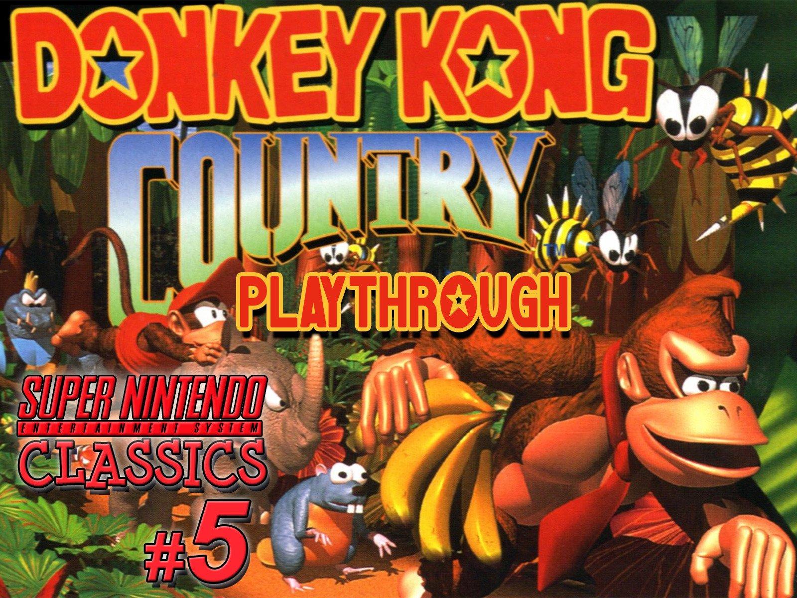 Clip: Donkey Kong Country Playthrough (SNES Classics 5) - Season 1