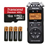 Tascam DR-05 (Version 2) Portable Handheld Digital Audio Recorder (Black) with Platnium accessory bundle