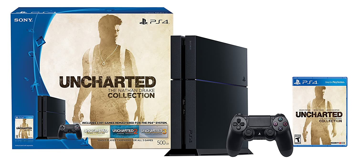 PlayStation 4 500GB Console - Uncharted: The Nathan Drake Collection Bundle (Physical Disc)