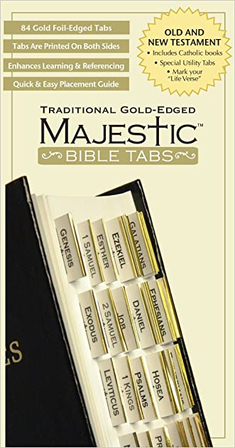 Bible Tabs: Majestic Traditional Gold-Edged Tabs