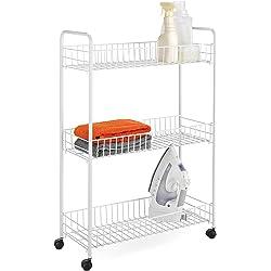 Honey-Can-Do CRT-01149 3-Tier Laundry Cart (White)