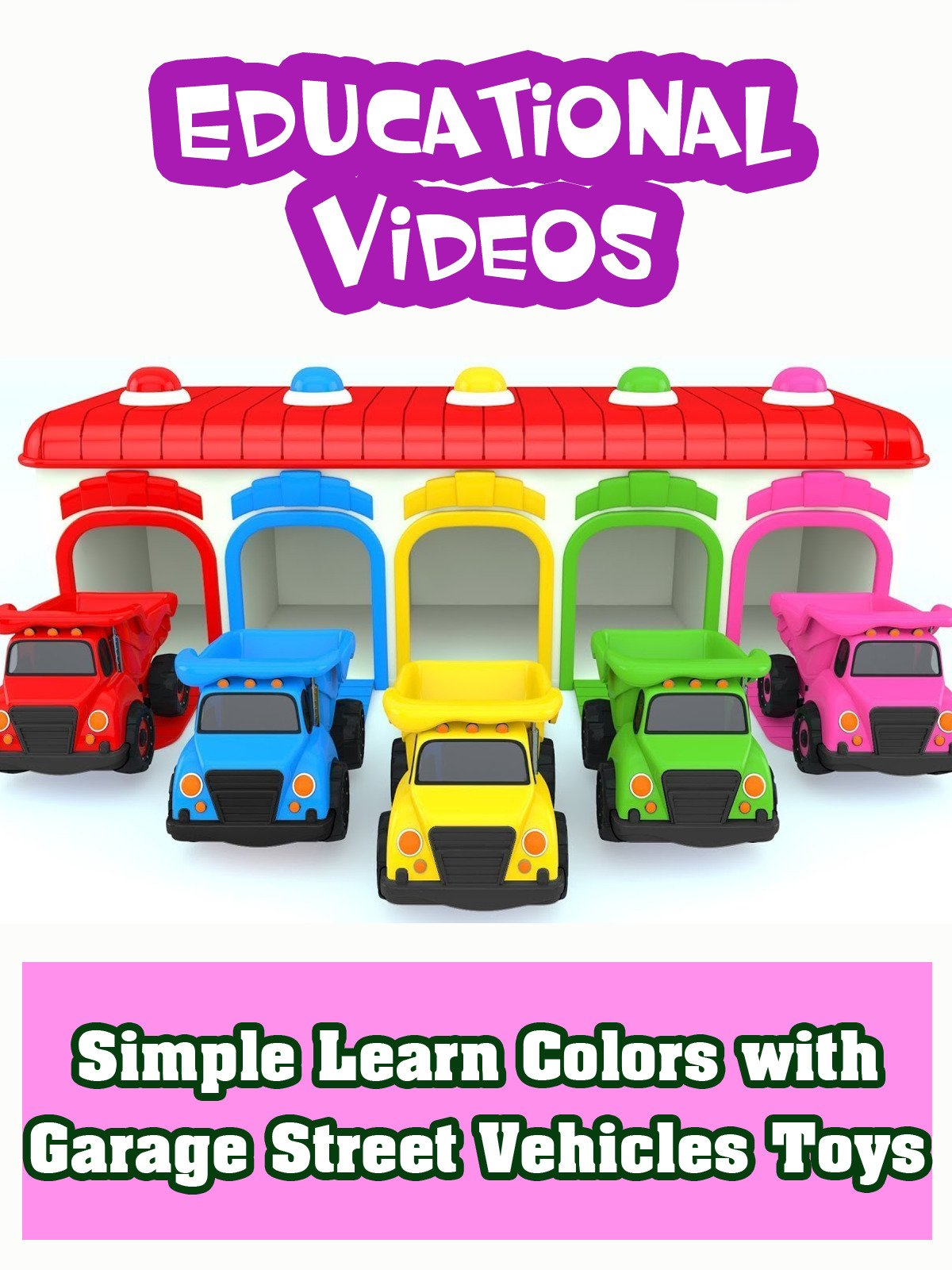 Simple Learn Colors with Garage Street Vehicles Toys