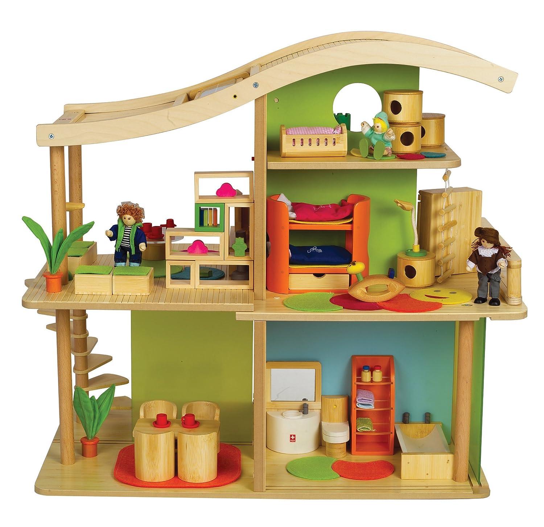 Chalet Puppenhaus Plantoys Holz Puppenstube ~ Puppenhaus Vergleich  Puppenhausvergleich