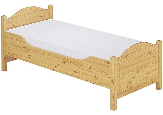 Erst-Holz 60.40-09 M Seniorenbett extra hoch - mit Rollrost und Matratze - 90x200 - Massivholz Natur