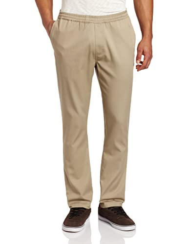 Elastic waist khaki pants for men