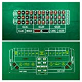 YH Poker Roulette and Craps 2-Sided Casino Table Felt Layout (Tamaño: 36