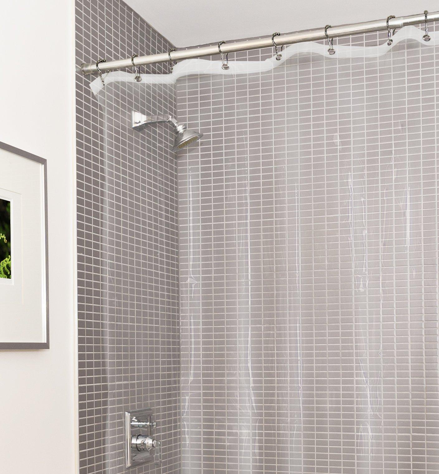 Estilo Heavy Duty Clear No More Mildew PVC Shower Curtain