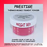 Prestige THERMOCHROMIC Pigment That Changes Color at 88°F (31 °C) from Colored to Transparent (Colored Below The Temperature, Transparent Above) Perfect for Color Changing Slime! (5g, Bright RED) (Color: BRIGHT RED, Tamaño: 5g)