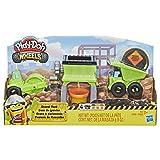 Play-Doh Wheels Gravel Yard Construction Toy with Non-Toxic Pavement Buildin' Compound Plus 3 Additional Colors (Color: Kkkk)