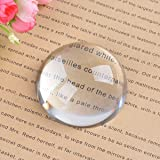 LONGWIN Crystal Dome Magnifier/Paperweight Reading Magnifying Glass-2.4 Inch (Tamaño: 2.4 Inch)