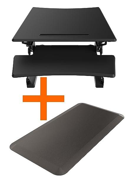Bureau station assise Ensemble de douche (590x 580mm) avec tapis anti-fatigue (1000x 500mm)...