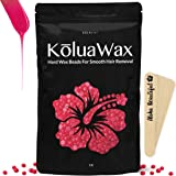 Hard Wax Beans for Painless Hair Removal (All In One Body Formula) Our Versatile Pink Best Loved by KoluaWax for Face, Bikini, Legs, Underarm, Back, Chest. Large Refill Pearl Beads for Wax Warmer Kit. (Color: Pink Best Loved KoluaWax 1 lb)