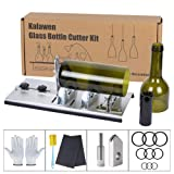 Kalawen Glass Bottle Cutter Bottle Cutting DIY Machine for Cutting Wine, Beer, Liquor, Whiskey, Alcohol Round Bottles from Bottom to Neck - Accessories Tool Kit Gloves Fixing Rubber Ring (Tamaño: size2-cut bottle neck)
