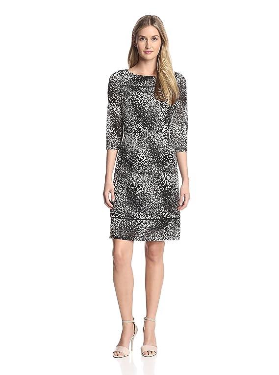 Adrianna Papell Women's Dart Release Print Dress
