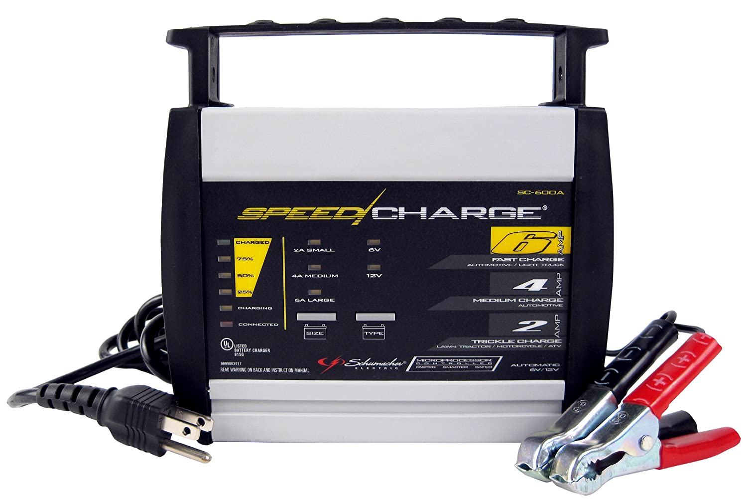 Schumacher SC-600A-CA SpeedCharge 6 Amp High Frequency Battery Charger $31.65