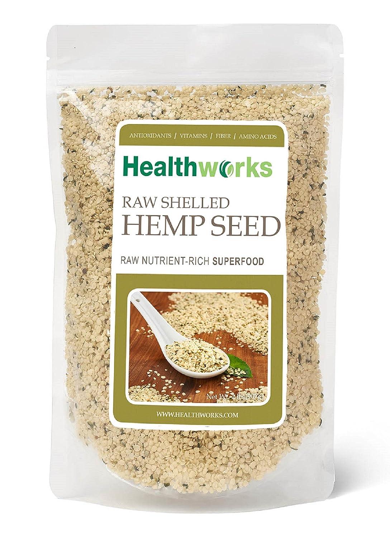 Healthworks 100% Raw Shelled Hemp Seed, 2 Pound