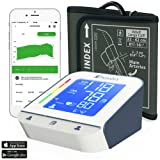 Blood Pressure Monitor - High Accuracy Automatic Upper Arm Premium Machine - iProvèn BPM-2244BT with App for iPhone and Android - Large BP Cuff - Best Among Top Rated Electronic Monitors and Cuffs (Tamaño: Large cuff)
