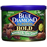 Blue Diamond, Almonds, Bold Wasabi & Soy, 6 ounce Can (3 Pack) (Tamaño: 6oz Can)