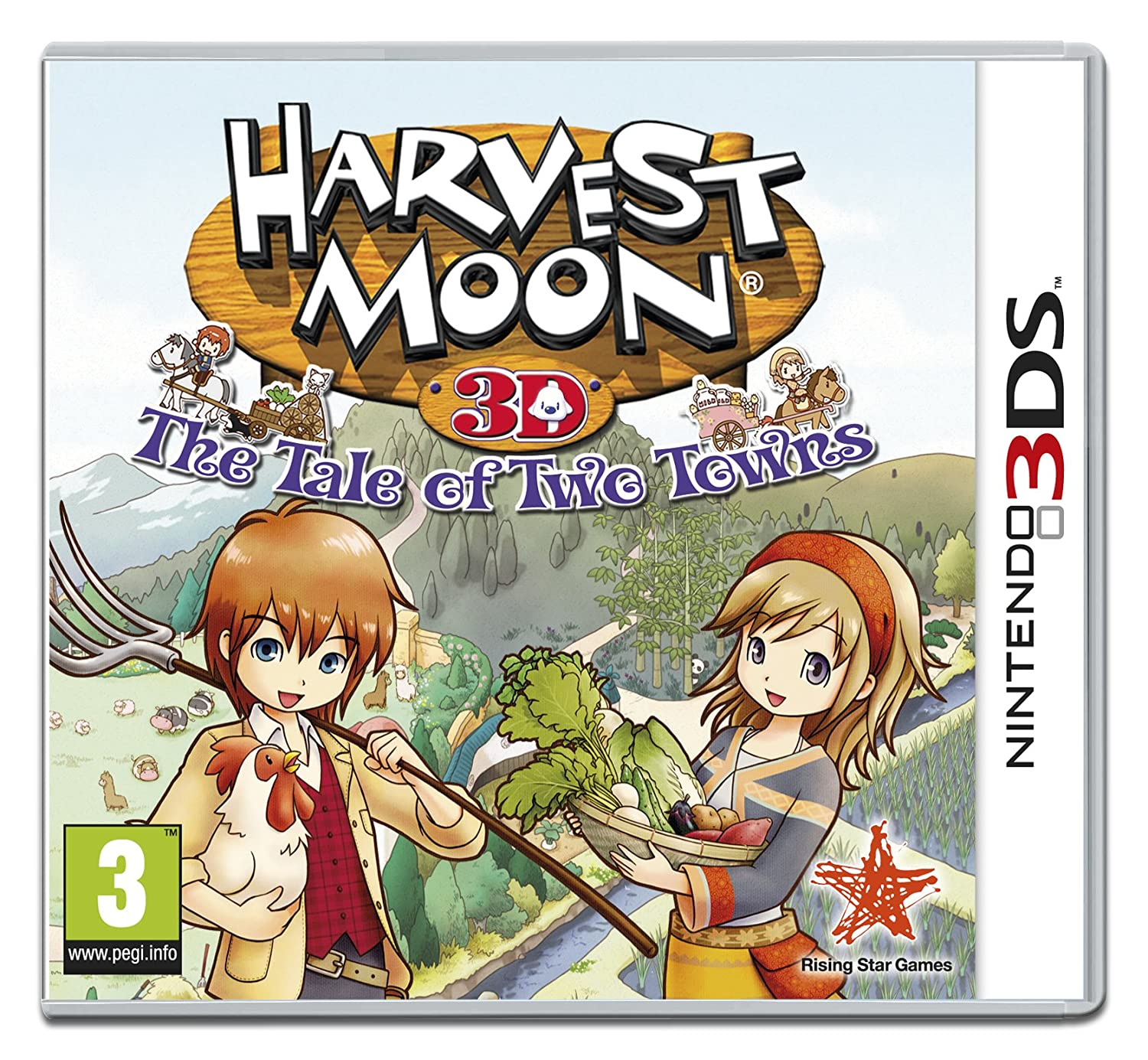 NINTENDO 3DS ★★HARVEST MOON: A TALE OF TWO TOWNS ★★PAL FOR ...