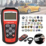 kiwitatá OBD2 Car Diagnostic Scanner, Universal OBD II Automotive Engine Fault Code Reader Scanner CAN Scan Tool for All OBD2 Protocol Cars Since 1996 (Color: Black+Red)