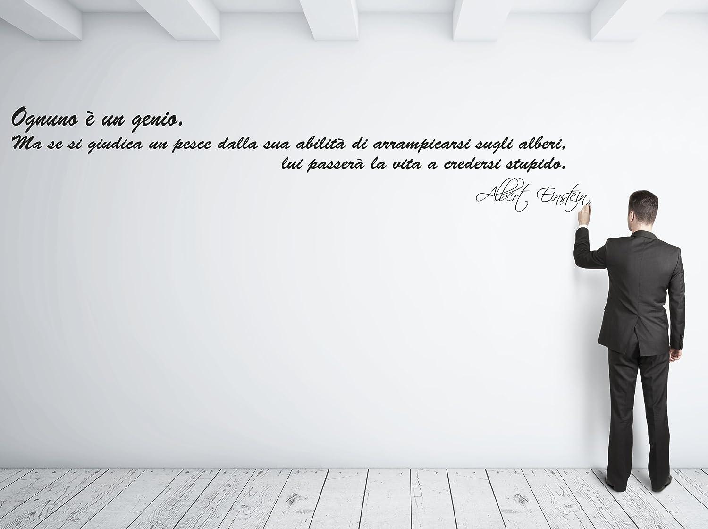 """Adesivo murale """"Albert Einstein: Ognuno è un genio"""""""
