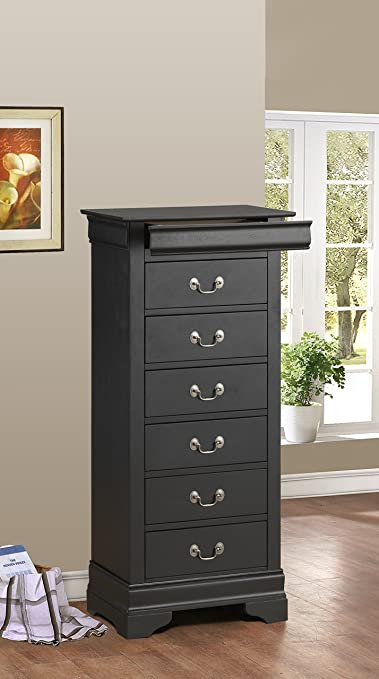 Glory Furniture G3150-LC Lingerie Chest, Black