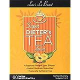 SUPER DIETER'S TEA APRICOT 60 Tea Bags Net Wt 5.26 oz./150 g (Tamaño: 60)