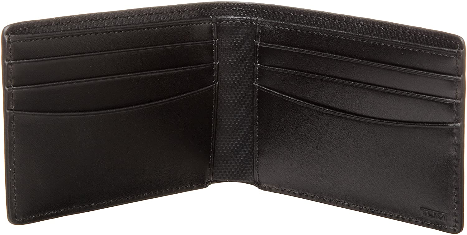 Tumi Men's Quantum Slim Single Billfold Wallet, Black, One Size $55.86