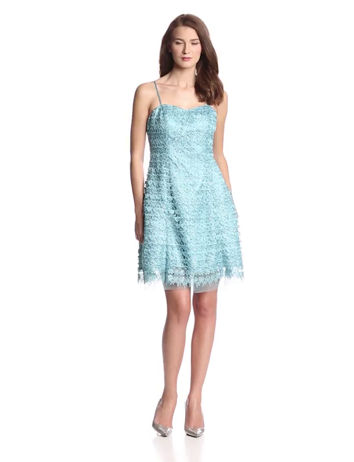 Hailey by Adrianna Papell Womens Strapless Party Dress