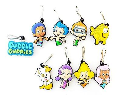 9 pièces Bubble Guppies # 4 Zip Pendentif, décoration pour la Veste, Sac