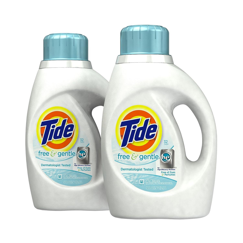 Amazon - 2 Tide Free & Gentle High Efficiency Detergent - $8.37