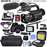 Sony PXW-Z90V Broadcast Hybrid 4K XDCAM Camcorder Pro Bundle with Sony Shotgun Microphone, Wireless Lapel & Handheld Mic System, Wide Angle & Telephoto Lenses, Filters and more...
