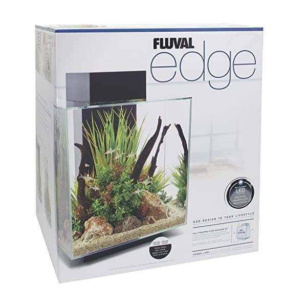 Fluval Edge Aquarium with LED Light Unboxing Review