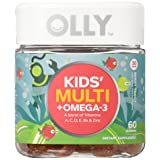 OLLY Kids Multivitamin and Omega-3 Gummy Supplement, with Zinc and Omega-3s;  Berry Tangy; 60 count (30 day supply)