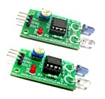 Silicon TechnoLabs 2pcs IR Proximity Sensor for line follower and Obstacle sensing Robots.Interface with ARDUINO,AVR,8051,PIC,ARM,MSP430 Buy Original Product From SILICON TECHNOLABS Only.