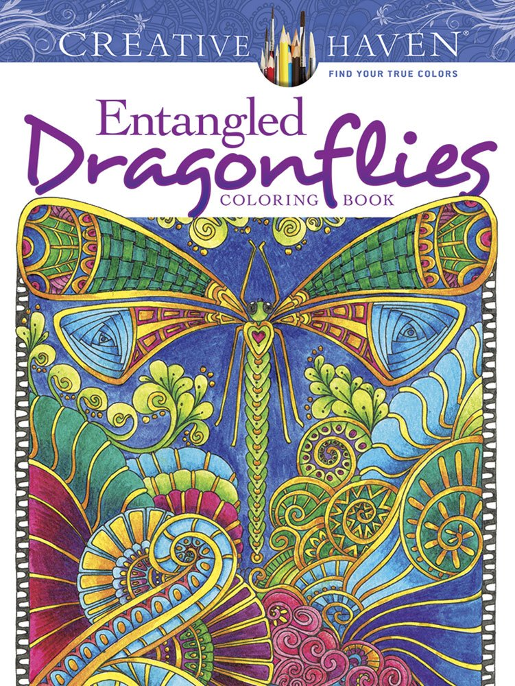 Creative Haven Entangled Dragonflies Coloring Book ISBN-13 9780486805689