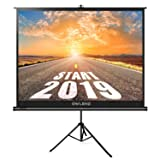 The First Projector Screen with Stand Green Environmental, OWLENZ Indoor and Outdoor Movie Screen 100 Inch Diagonal 4:3 with Premium Wrinkle-Free Design (Easy to Clean, 1.1 Gain, 160° Viewing Angle) (Color: Ps-v43-h100, Tamaño: 100 inch)