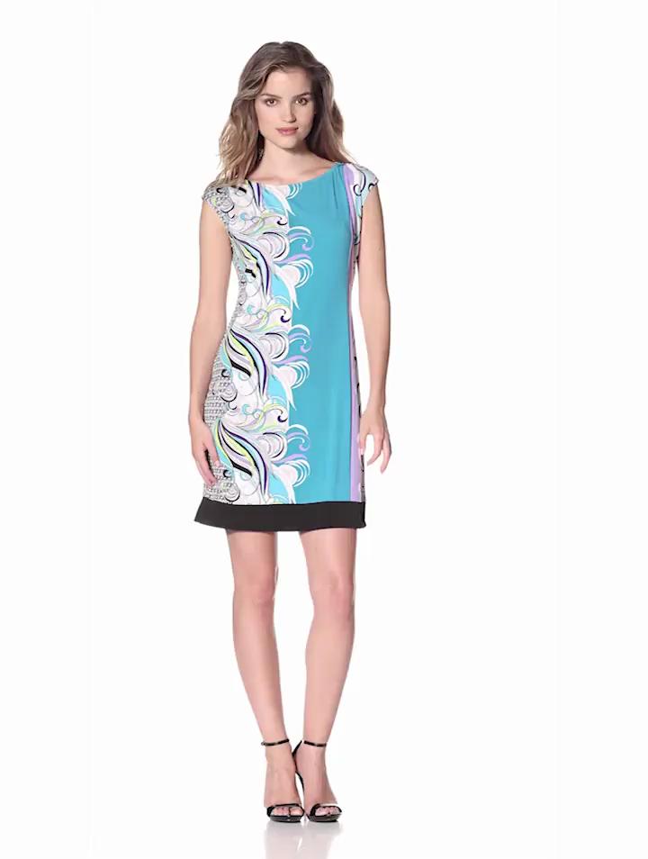 Donna Morgan Womens Cap Sleeve Dress