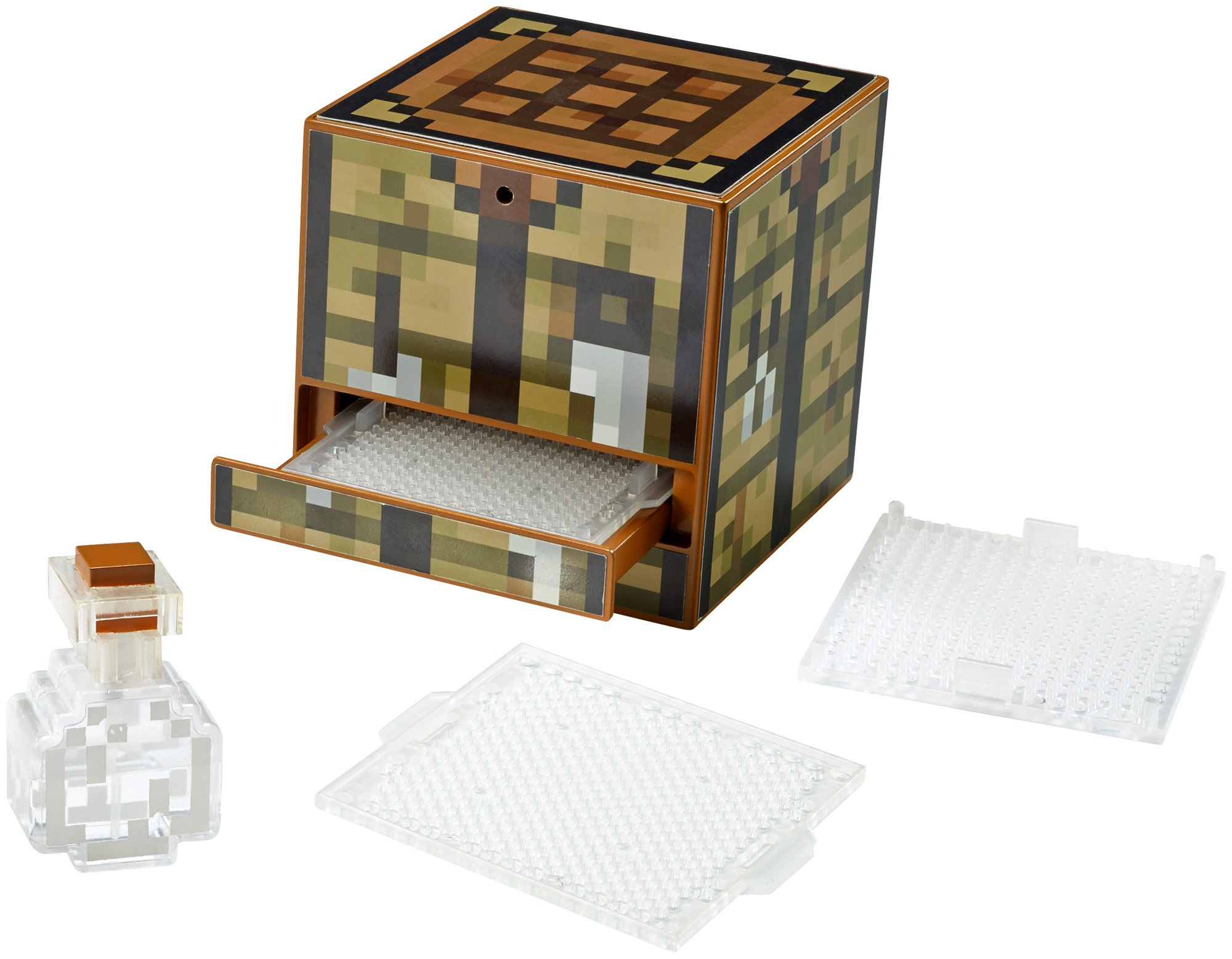 Mattel minecraft crafting table cjm12 with 10 different templates inventive kit ebay - Crafting table on minecraft ...