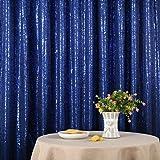 Dark Blue Party Delight Satin Non-Transparent Sequin Backdrop, Photography, 4Ft x 6Ft (Color: Dark Blue, Tamaño: 4FTx6FT)