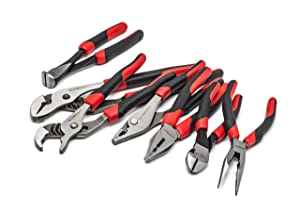 GearWrench 82108 7 Pc. Mixed Pliers Set (Color: BLACK & RED)