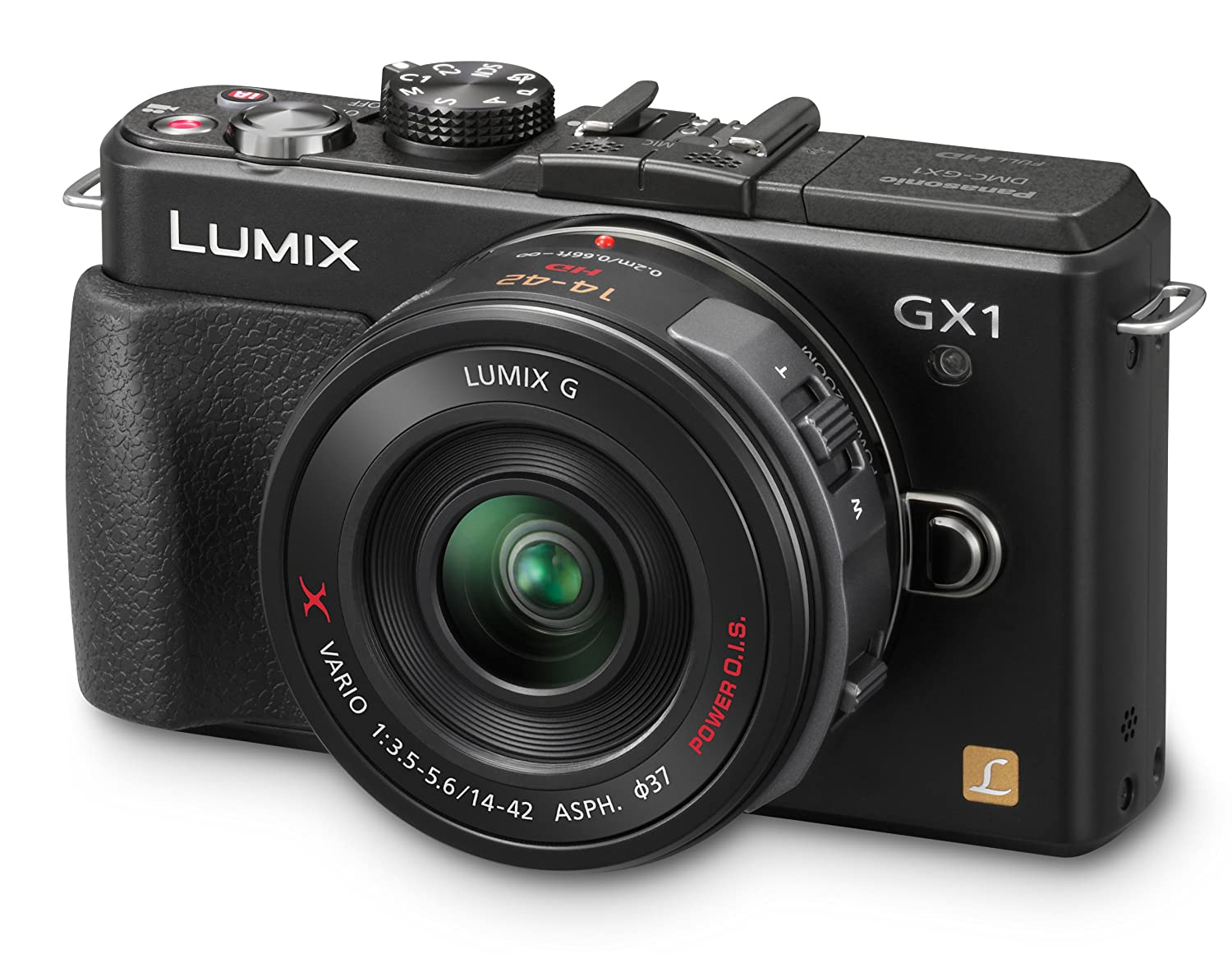 Mirrorless camera - Panasonic Lumix DMC-GX1X 16 MP Micro 4/3 Compact System Camera, 3-Inch LCD Touch Screen and 14-42mm X Power Zoom Lens (Black): full functionality in a compact form