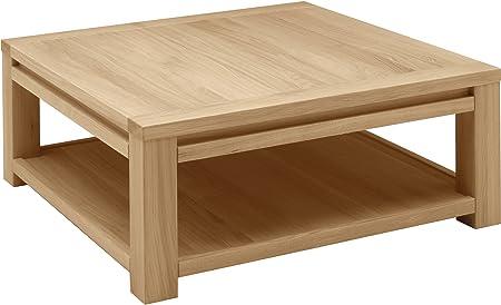 Tavolo basso quadrato Quercia doppio vassoio