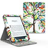 MoKo Case for Kindle Paperwhite, Premium Vertical Flip Cover with Auto Wake / Sleep for Amazon All-New Kindle Paperwhite (Fits All 2012, 2013, 2015 and 2016 Versions), Lucky TREE