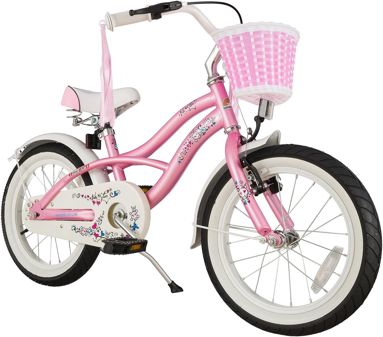 BIKESTAR® Premium Design Kinderfahrrad für coole Kids ab 4 Jahren ★ 16er Deluxe Cruiser Edition ★ Glamour Pink günstig als Geschenk kaufen