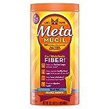 Metamucil Daily Fiber Supplement, 100% Natural Psyllium Husk, Orange Smooth Sugar Free Fiber Powder, 72 Doses (Tamaño: 72 doses)