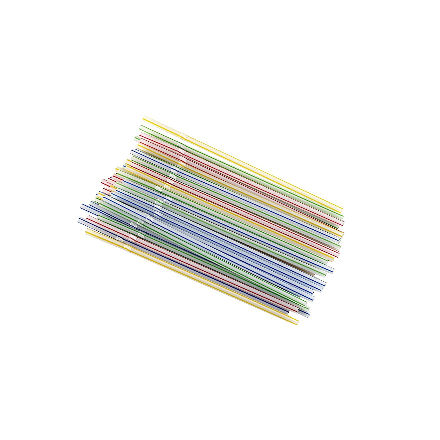 Image: Good Cook Flexible Drinking Straws - 50 count bendable straws are great for all drinks