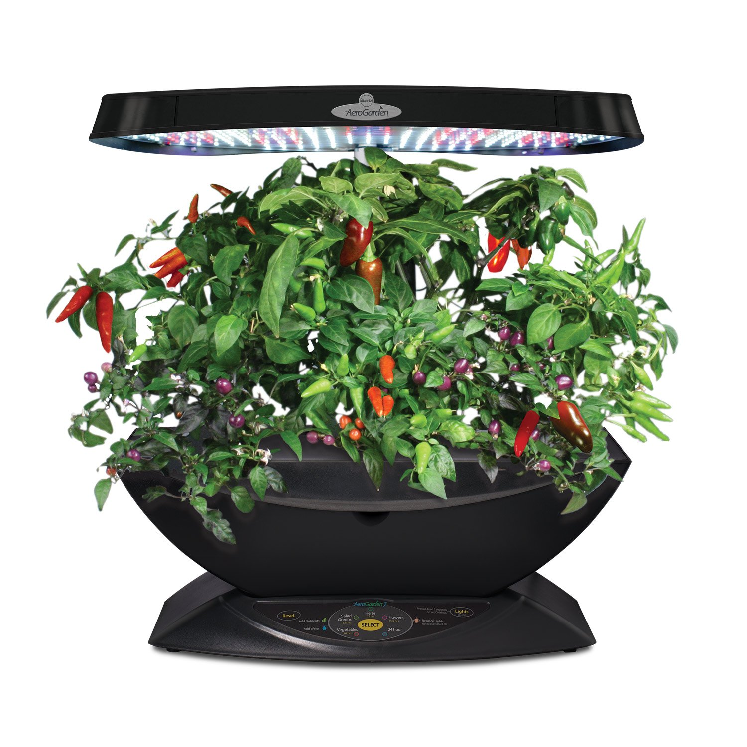 miracle gro aerogarden 7 pod led indoor garden with