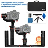 Feiyutech a1000 Upgraded With Dual Grip Handle Kit 3-Axis Gimbal Stabilizer for NIKON/SONY/CANON Series DSLR Camera/GoPro Action Camera/Smartphone,1.7KG Payload,App control with carry bag and Tripod