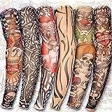 Yariew 6pcs Temporary Tattoo Sleeves, 6pcs Set Arts Temporary Fake Slip On Tattoo Arm Sleeves Kit Style 1 (Color: Color 1, Tamaño: 18 x 4 cm)